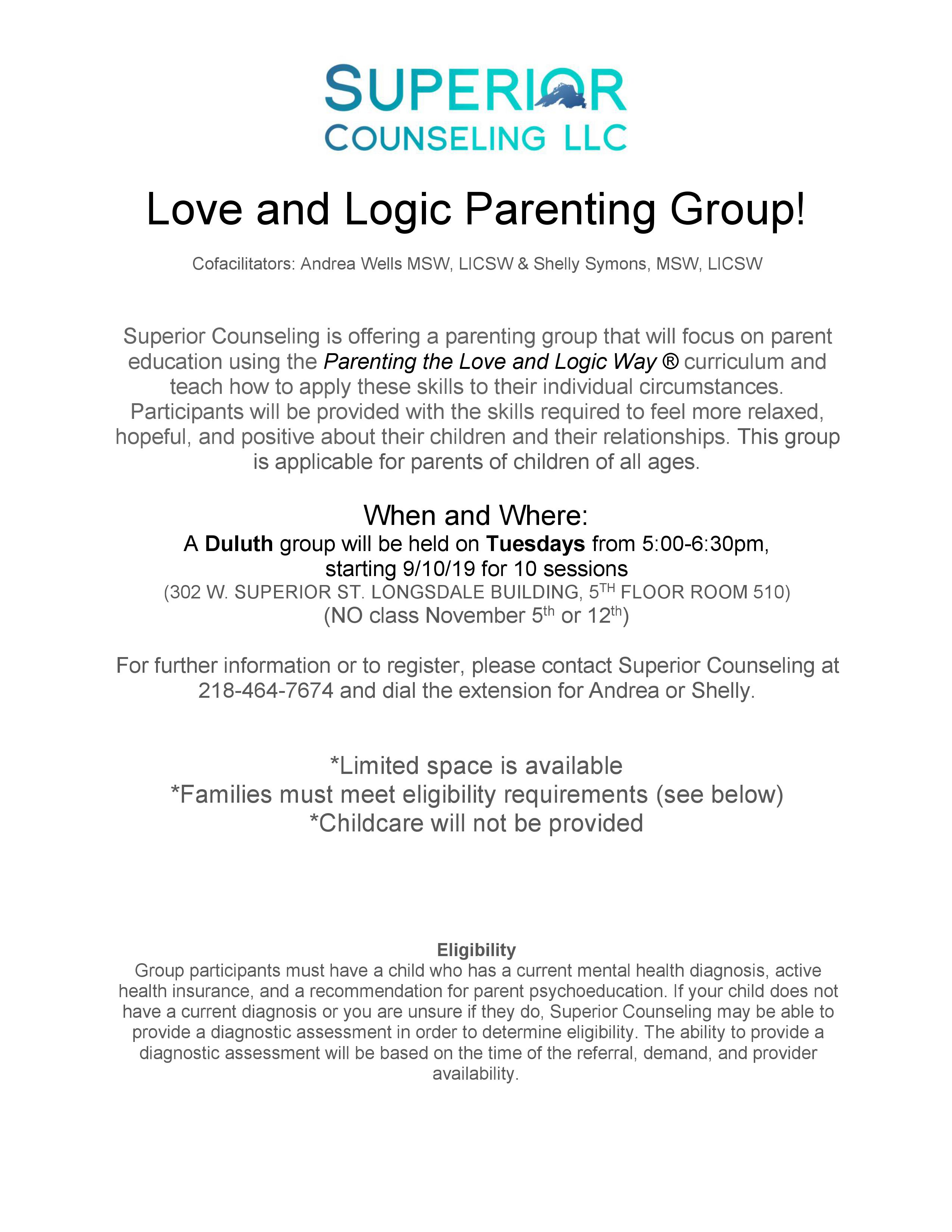 Love and Logic Parenting Group